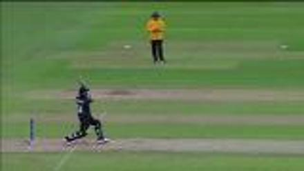 WICKET: Ronchi falls to Taskin for 16