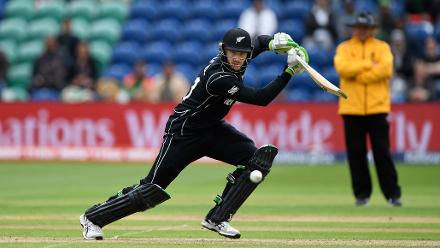 Martin Guptill takes New Zealand off to a fine start.