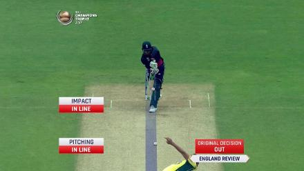 WICKET: Mitchell Starc traps Jason Roy leg-before wicket for 4