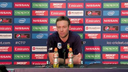 #CT17 IND v SA - AB de Villiers - Pre-Match PressConference