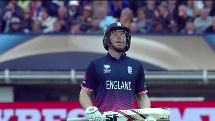 WICKET: Eoin Morgan is run-out for 87