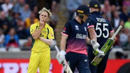 The Australian bowlers wore a look of helplessness as the English duo of Morgan and Stokes took the game away.