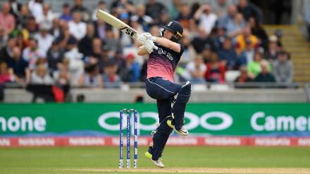 After resumption, Eoin Morgan played positively to put pressure back on Australia, getting past a cracking half-century in the process.
