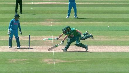 WICKET: Miller run-out courtesy a huge mix-up