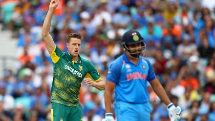 Morne Morkel managed to get the wicket of Rohit Sharma cheaply to shock India at the start.