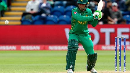 Fakhar Zaman scored a half century off 36 balls including eight fours and one six before being caught by Gunaratne.
