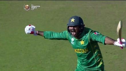 #CT17 PAK v SL - Pakistan winning moment