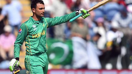 Fakhar Zaman got Pakistan chase off a rapid start start notching up his second half-century in as many matches,  scoring a 58-ball 57 studded with seven fours and a six.