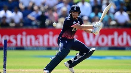 Jonny Bairstow, playing his first match of the the Champions Trophy steadied the ship for England with a 57-ball 43.