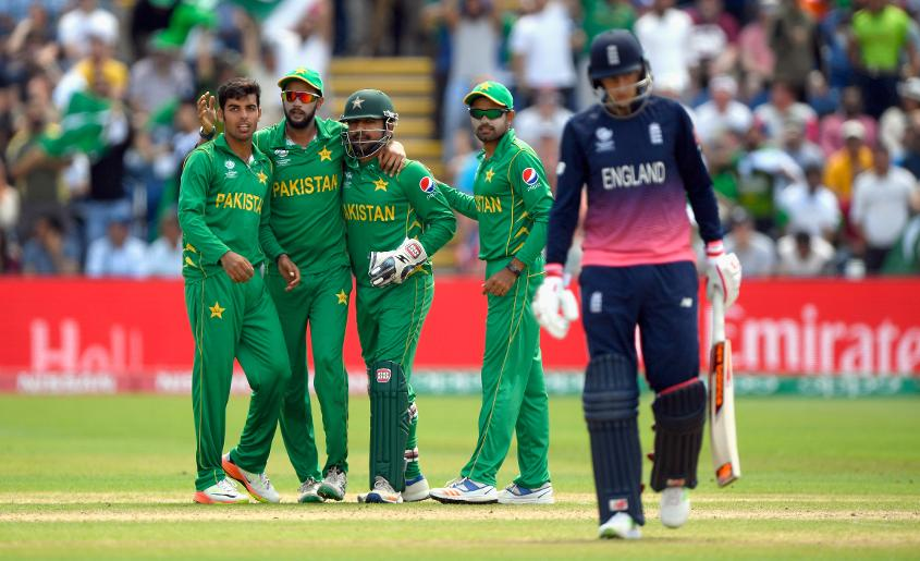 Shadab Khan then got amidst the wickets picking up the key scalp of Joe Root, for 46 that left England struggling at 128 for 3.