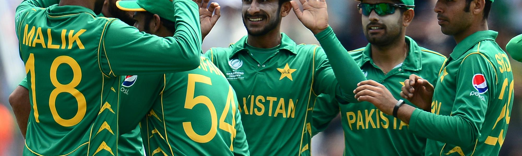 Hassan Ali was the pick of the Pakistani bowlers, returning with figures of 3 for 35 in his ten overs.