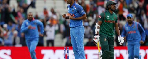 Bhuvneshwar Kumar got India off to a perfect start, first dismissing Soumya Sarkar in the first over for 0, and later Sabbir Rahman to leave Bangladesh stuttering at 32 for 2.