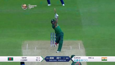WICKET: Sabbir falls to Bhuvneshwar for 19