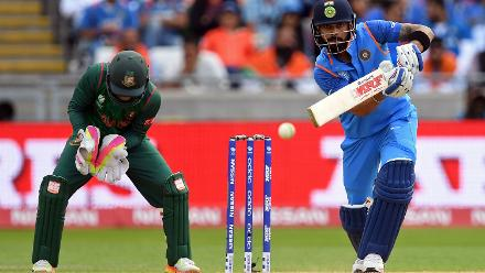 Virat Kohli was at his imperious best, as he scored a 78-ball 96 which included 13 hits to the fence, also in the process reaching the milestone of 8000 runs, the quickest batsman to do so in One-Day International history.