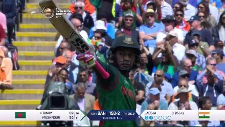 WICKET: Mushfiqur Rahim is dismissed by Kedar Jadhav for 61
