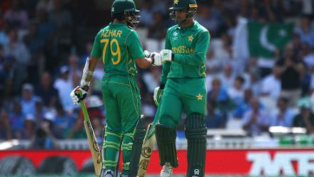 Fakhar Zaman and Azhar Ali, however took their chances going about scoring runs at a healthy rate as they stitched a 128-run partnership for the opening wicket.