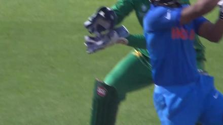 WICKET: Jadhav is dismissed by Shadab for 9