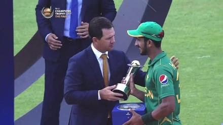 #CT17 Final - Pak v Ind: Player Of The Tournament - Hassan Ali