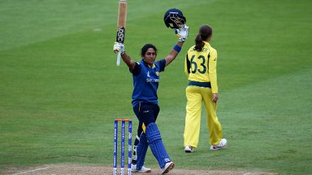 Chamari Athapaththu made the second-highest individual score in a World Cup match but ended up on the losing side