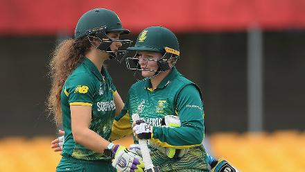 Laura Wolvaardt and Lizelle Lee the openers chased down the target in just 6 overs.