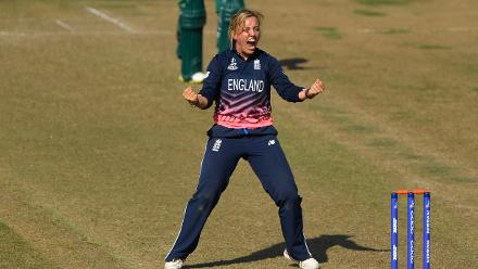 Danielle Hazell finished with 3 for 70 and gave England a 68-run win.