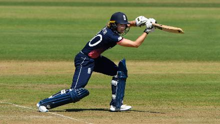 Sarah Taylor hits out during the ICC Women's World Cup 2017 match between England and South Africa.