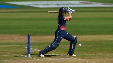 Lauren Winfield (24) along with Tammy Beaumont, provided England a decent start