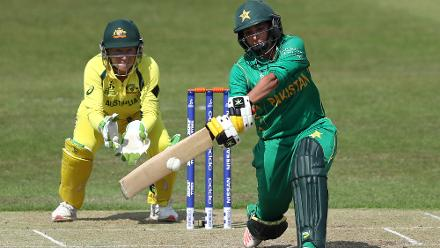 Sana Mir top-scored for Pakistan with 45 off 85.