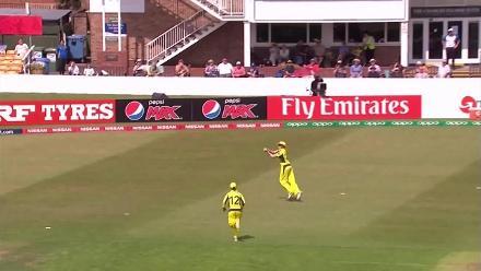 WICKET: Ayesha Zafar falls to Sarah Aley for 8