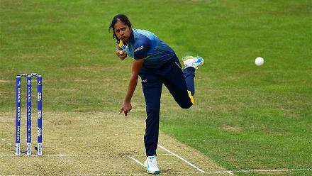 Inoka Ranaweera was the verge of a hattrick after dismissing Mithali Raj and Deepti Sharma in successive deliveries