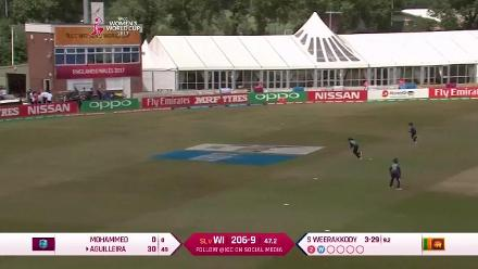 #WWC17 Merissa Aguilleira scores 46 in 59 deliveries to take West Indies to 229 for 9
