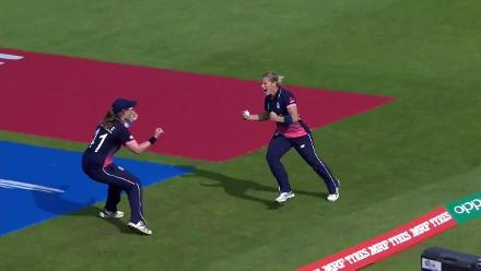 WICKET: Ashleigh Gardner falls to Jenny Gunn for 11