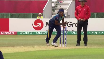 WICKET: Chedean Nation is dismissed by Ama Kanchan for 20