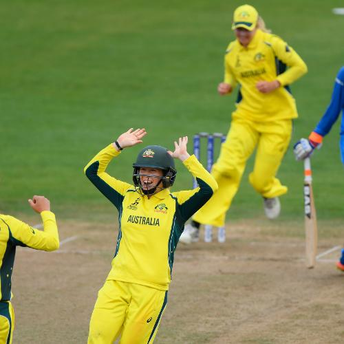 India was rocked early losing Smriti Mandhana in the fourth over caught behind off the bowling of Ashleigh Gardner