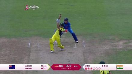 #WWC17 Aus v Ind:  Nicole Bolton scores a  breezy 36