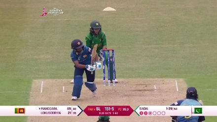 #WWC17 Pak v SL - Dilani Manodara innings