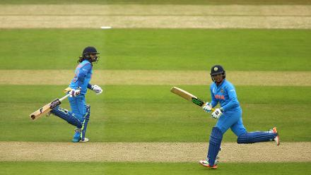 Veda Krishnamurthy smacked a belligerent 45-ball 70 with seven fours and two sixes, stitching a 108-run partnership with Raj, as India reached a formidable 265 for 7 in their 50 overs
