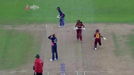 WICKET: Kycia Knight is run out for 17