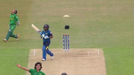 WICKET: Dilani Manodara falls after an impressive 84
