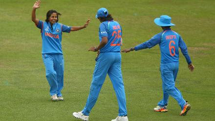 Deepti Sharma, Jhulan Goswami and Punam Raut shared four wickets amongst themselves to further sink New Zealand
