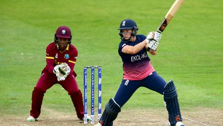Katherine Brunt (14) added 36 runs with Heather Knight for the sixth wicket.