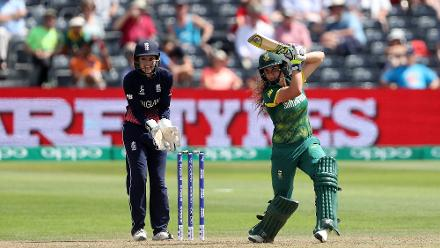 Laura Wolvaardt got things back under control stitching a crucial 77-run partnership for the third wicket with Mignon du Preez