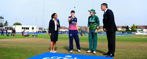 South Africa won the toss and opted to bat first in the semi-final.