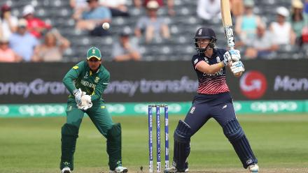 Sarah Taylor (54) scored an excellent half-century to keep the scoreboard ticking and took her team closer to the target