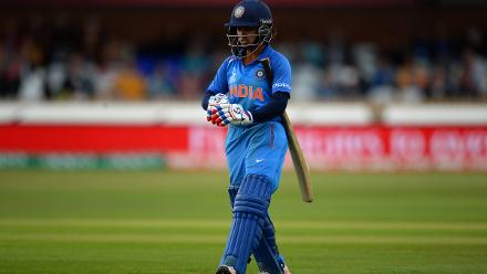 India slid further, with Ashleigh Gardner getting into the act, as she picked up the crucial wicket of the in-form Punam Raut for 14 with the score on 35