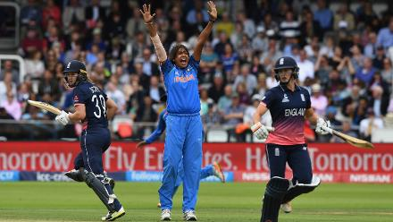 Jhulan Goswami struck three crucial blows in her 10 overs, including the wicket of Natalie Sciver.