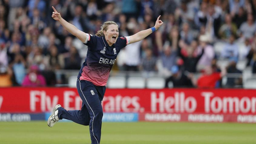 Anya Shrubsole was the star of the final taking six wickets for 46 runs to derail the Indian chase