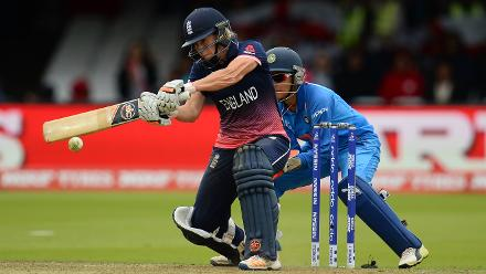Katherine Brunt scored 34 off 42 balls before Deepti Sharma ran her out.