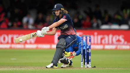 Natalie Sciver scored a fine half-century before being removed by Jhulan Goswami to add to England's woes.