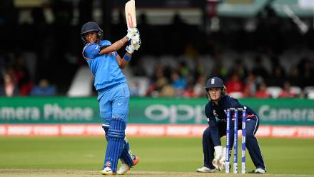 Harmanpreet Kaur played with intent to keep India in the hunt.